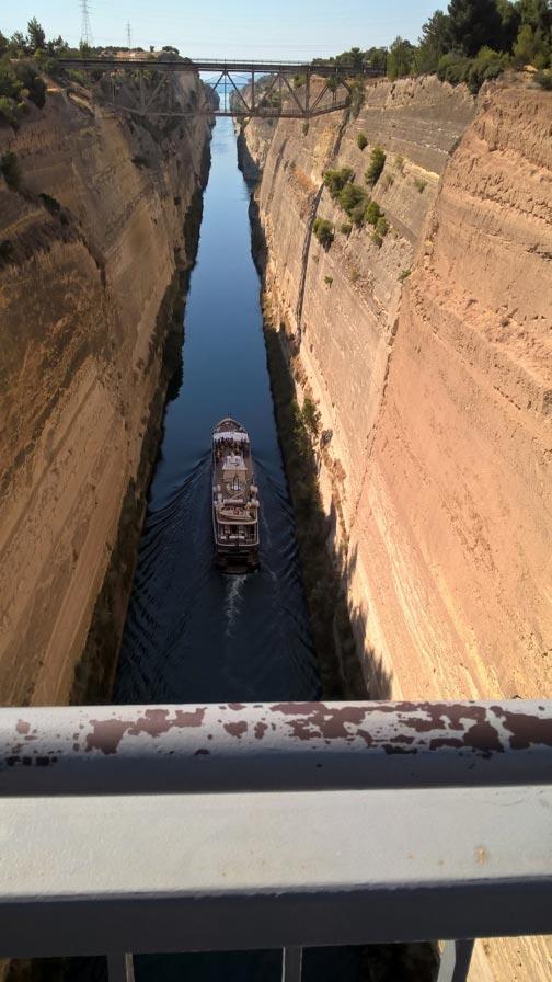 Der Kanal von Korinth – in der Nähe der Stadt, an deren Gemeinde Paulus die Zeilen schrieb